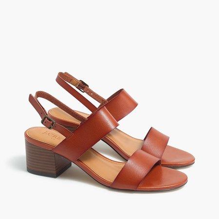 Low block-heel sandals
