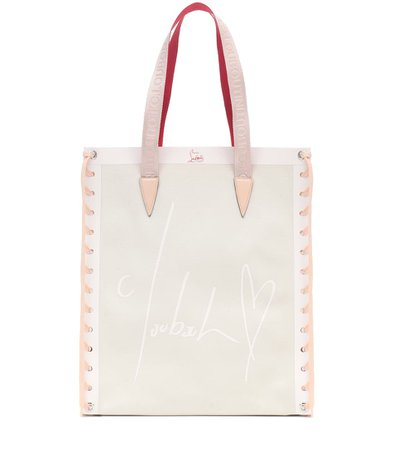 Cabalace Small Leather-Trimmed Tote | Christian Louboutin - Mytheresa