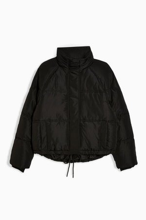 Black Short Puffer Jacket | Topshop