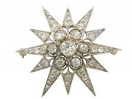Diamond Star Brooch | Victorian Brooches for Sale | AC Silver