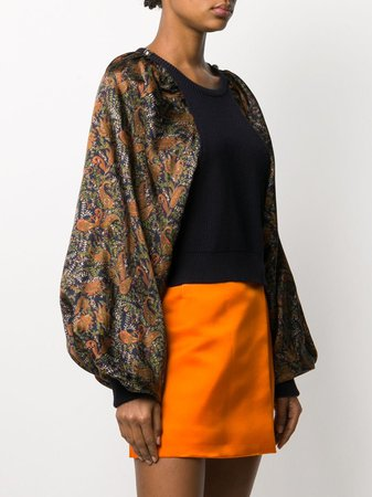 Christopher Kane Paisley Sleeves Knitted Jumper - Farfetch