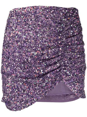 Retrofete Sequin Embroidered Draped Mini Skirt - Farfetch