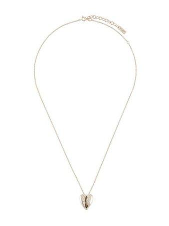 Saint Laurent Cowrie Shell Pendant Necklace 621183Y1500 Silver   Farfetch