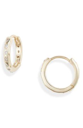 Adina's Jewels Starburst Huggie Earrings | Nordstrom