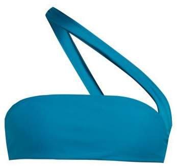Halo One Strap Bikini Top - Womens - Blue