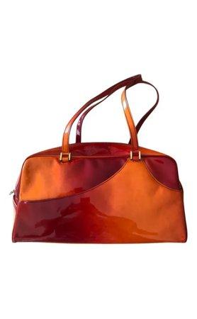Dior Orange Ombre Patent Leather Bag