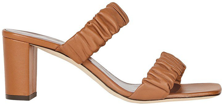 Frankie Leather Slide Sandals