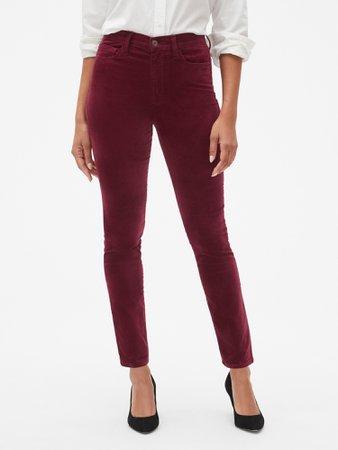 High Rise Legging Pants in Velvet   Gap Factory