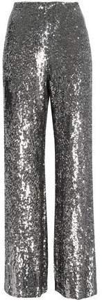 Sequined Silk Wide-leg Pants