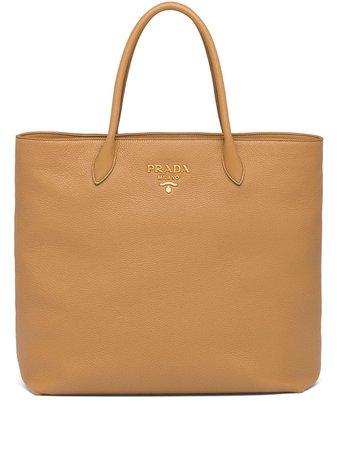 Prada Leather Tote Bag - Farfetch