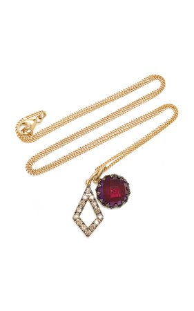 Larkspur & Hawk Lady Emily 14K Gold Black Rhodium Sterling Silver And Multi-Stone Necklace