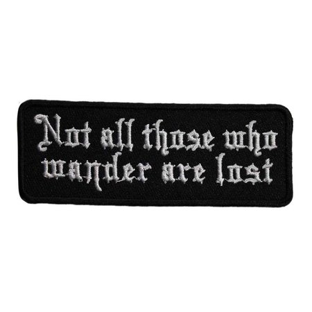 Not All Those Who Wander Are Lost Biker Motorcycle | Etsy