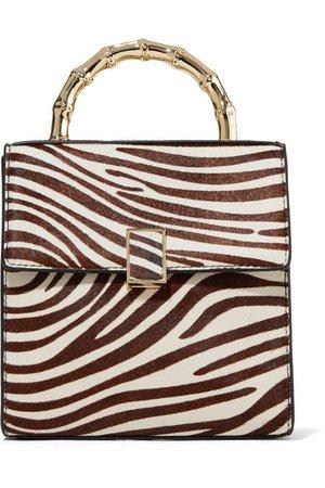 Loeffler Randall   Tani mini zebra-print calf hair tote   NET-A-PORTER.COM