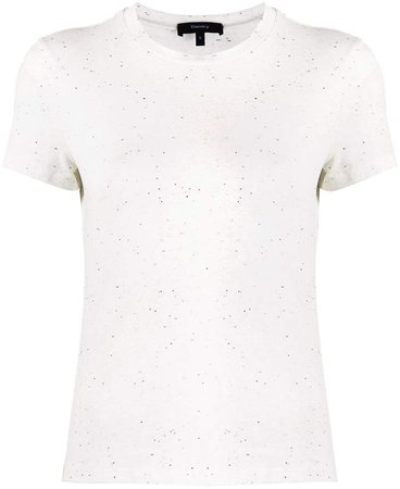 flecked short sleeve T-shirt