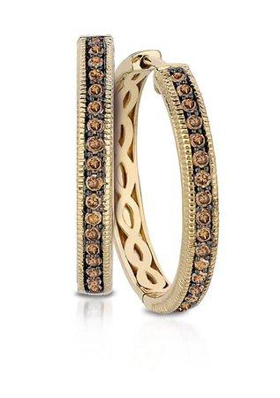 Le Vian® Chocolate Diamonds® in 14k Honey Gold™ Earrings