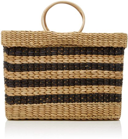 The Lizzy Striped Reed Tote
