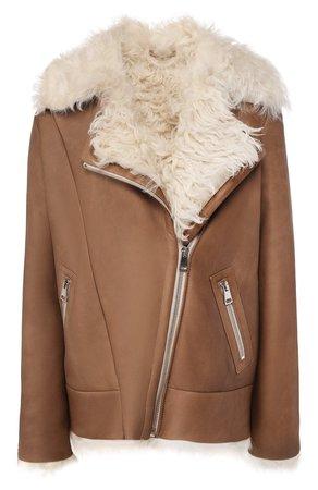 Женская коричневая дубленка MASLOV — купить за 157300 руб. в интернет-магазине ЦУМ, арт. WS234