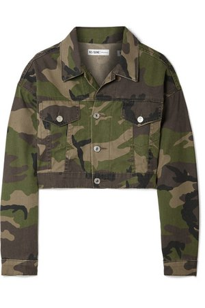 RE/DONE | Cropped camouflage-print denim jacket | NET-A-PORTER.COM