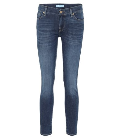 7 For All Mankind - Roxanne mid-rise skinny jeans | Mytheresa