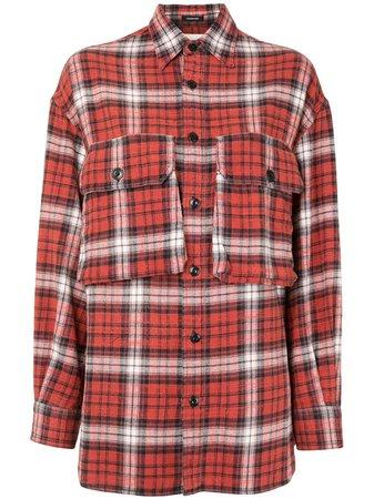 R13 Flap-Pocket Plaid Shirt Aw20   Farfetch.Com