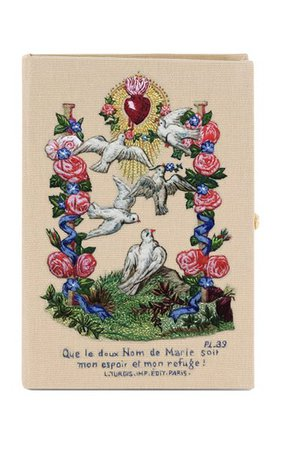 Birds Of Marie Embroidered Book Clutch By Olympia Le-Tan | Moda Operandi