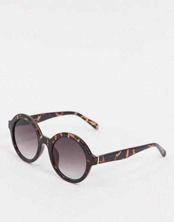 Vero Moda round sunglasses in tortoise shell | ASOS