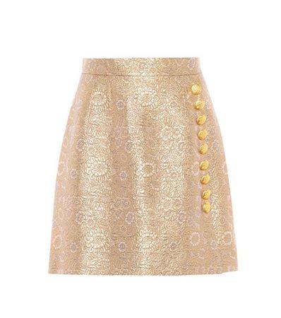 Brocade miniskirt