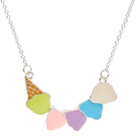 Pastel Ice Cream Scoop Necklace | Claire's US