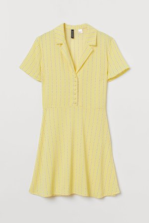 Shirt Dress - Yellow