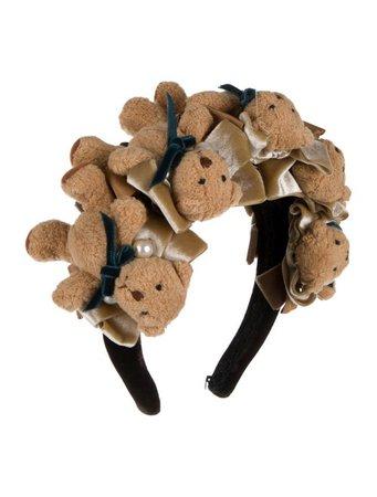 Moschino Teddt Bear Velvet Headband - Accessories - MOS33486 | The RealReal