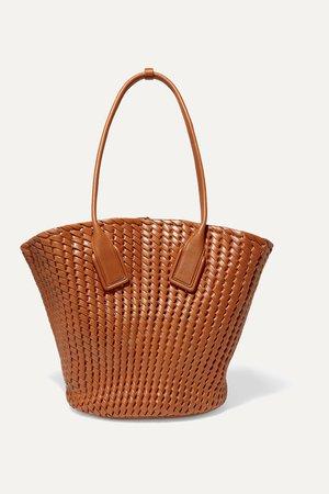 Brown Basket intrecciato leather tote   Bottega Veneta   NET-A-PORTER