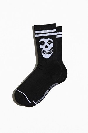 Misfits Skull Crew Sock | Urban Outfitters