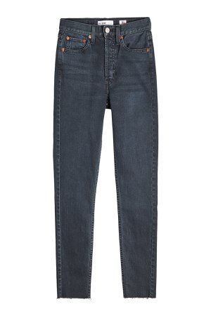 Cropped High Rise Straight Leg Jeans Gr. 29