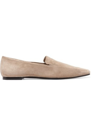 The Row   Minimal suede loafers   NET-A-PORTER.COM