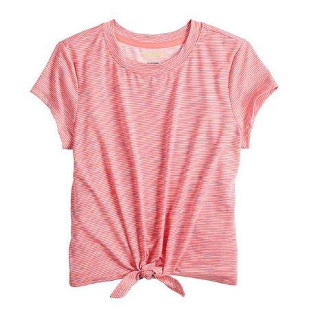 Girls 7-16 Tek Gear® Knot Front Fashion Tee in Regular & Plus Size