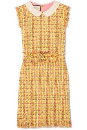 Gucci   Frayed tweed mini dress   NET-A-PORTER.COM