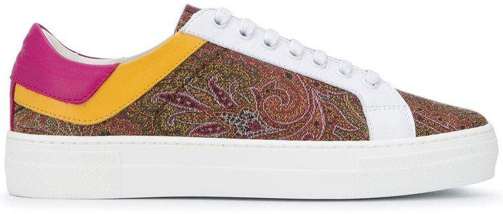 Paisley Print Low-Top Sneakers