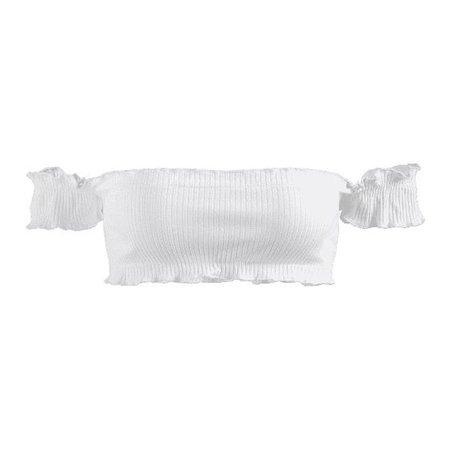 Ribbed Off Shoulder Bralette Top