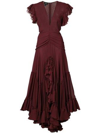 Giambattista Valli, V-Neck Ruffle Dress