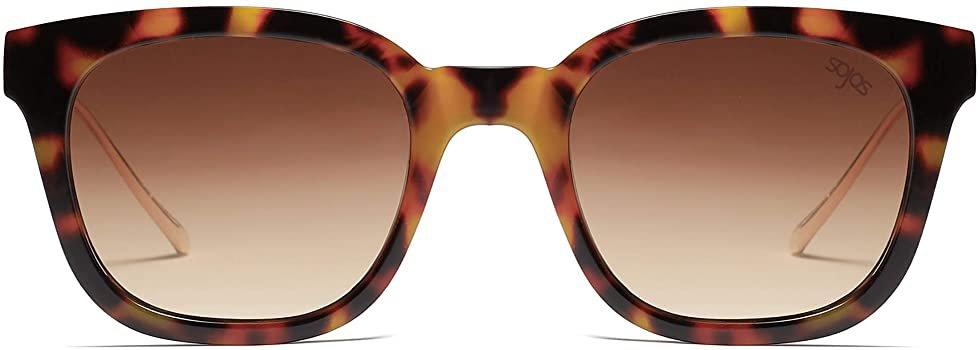 Amazon.com: SOJOS Classic Square Polarized Sunglasses Unisex UV400 Mirrored Glasses SJ2050 with Tortoise Frame/Gradient Brown Lens: Shoes