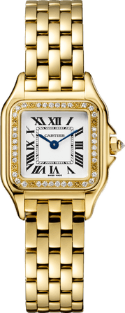 CRWJPN0015 - Panthère de Cartier watch - Small model, yellow gold, diamonds - Cartier