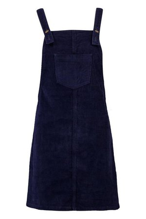 Pocket Front Cord Pinafore Dress   Boohoo