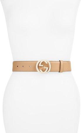 Interlocking-G Leather Belt