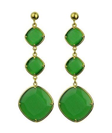 Katerina Psoma Eleanor Green Dangle Earrings < Katerina Psoma List | aesthet.com