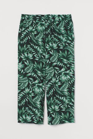 H&M+ Wide-cut Pull-on Pants - Black