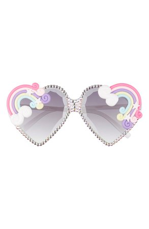Rad + Refined Rainbow Gradient Heart Shaped Sunglasses | Nordstrom