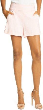 Donald High Waist Linen Blend Shorts