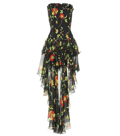 Lola printed silk dress