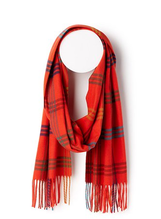 Colourful plaid scarf | Simons | Women's Winter Scarves and Shawls online | Simons