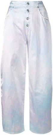 tie-dye wide leg trousers